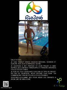 THIBAUT DANHO PARRAIN DE K NET PARTAGE JUIL 2016